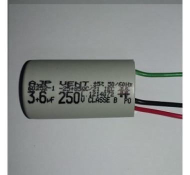 Capacitor P/ Ventilador De Teto 9uf (3uf + 6mf) - 250vac  - MARCA: AJP