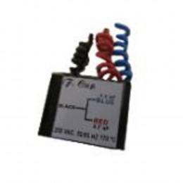 Capacitor 4mf (1,3mf / 2,7mf)- 250v -Quadrado/3 Fios(Ventilador Cord
