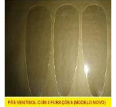 Pás Do Ventilador De Teto Ventisol  Transparente Wind Light (Conj. C/ 3 Unds.)